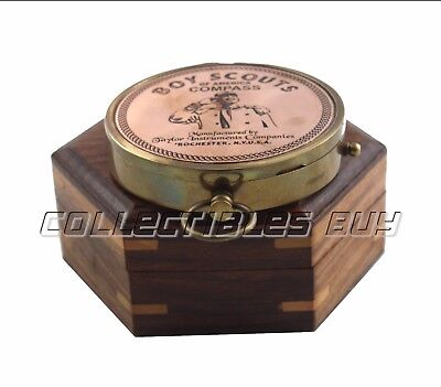 Nautical Copper Finish Boy Scout of America Compass Antique Brass Maritime Gift