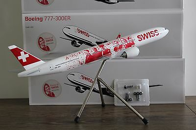 "SWISS B-777-300ER (HB-JNA) ""Faces"", 1:200, Corporate Modell für Swiss, LIMOX"