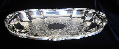 Wm A. Rogers Silver Plate Oval Serving Dish - #7360 - 600 gms - 10.5 in.