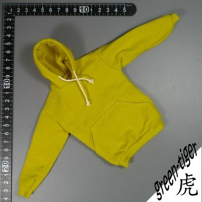 A803yel 1:6 Scale ace action figure parts  Dark yellow hoody hoodie Street sty