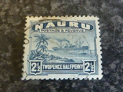Nauru Postage Revenue Stamp Sg30A Slate Blue Fine Used