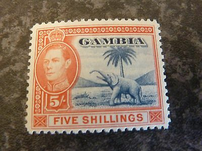 Gambia Postage Stamp Sg160 5/- Lmm
