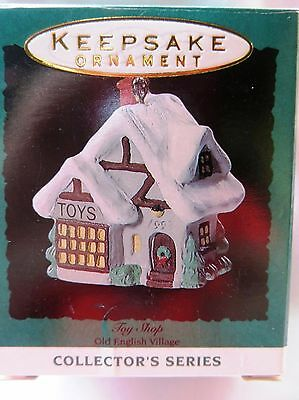 1993 Hallmark Miniature Christmas Ornament OLD ENGLISH VILLAGE TOY SHOP #6 IN SE