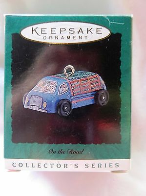 1996 Hallmark Miniature Christmas Ornament ON THE ROAD LITTLE TRUCK #4 IN SERIES