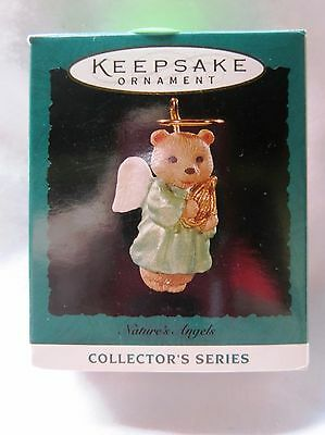 1995 Hallmark Miniature Christmas Ornament NATURES ANGELS BEAR #6 IN SERIES