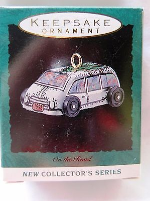 1993 Hallmark Miniature Christmas Ornament ON THE ROAD WAGON #1 IN SERIES