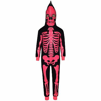 Kids Boys Girls Skeleton Print A2Z Onesie One Piece Halloween Costume 5-13 Years