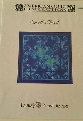 LAURA J PERIN tapestry NEEDLEPOINT chart pattern American quilt co snails trail