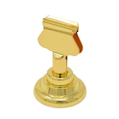 GrayBunny GB-6810B Place Card Holder 12 pack Gold Table Menu Harp-Clip Number