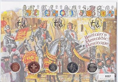 GB 1998 Coin Set Brilliant Uncirculated limited edition Mercury Heraldry Cover