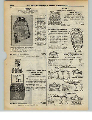 1936 PAPER AD 5 PG Pyrex Baking Dishes Ware Teapots Baked Apple Saice Pans