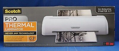 "Two 3M  Scotch Pro 12"" Thermal Laminator TL1306 Starter Pouches Laminating New"