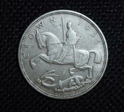 1935 George V silver rocking horse crown in good grade
