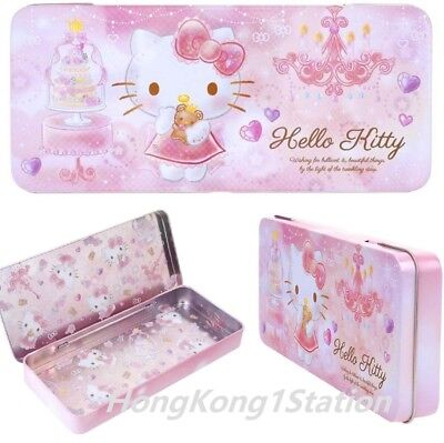 Sanrio Hello Kitty Pencil Pen Case Box Makeup Tool Holder Metal Tin Storage Bag