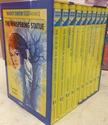 Nancy Drew Mystery Stories CollectioN 11-20 Book Box Set By Carolyn Keene New