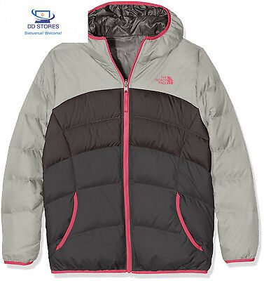 North Face G Reversible Moondoggy Giacca, Argento/Metlc Slvr Hthr, L