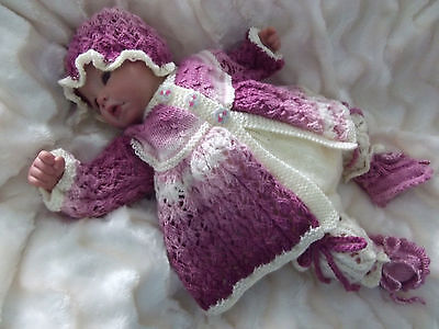 """Dashele Designs - New Knitting Pattern To Fit 18-22"""" Reborn/0-3 Month Baby"""