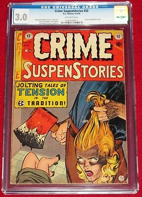 CRIME SUSPENSTORIES issue 22 (EC, 1954) All-TIME Classic Decapitation Cover!