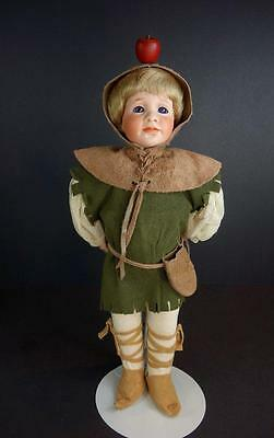 """Wendy Lawton Artist Doll William Tell The Younger MIB 1992 #165 14"""" Porcelain"""