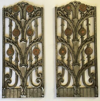 Museum quality vintage Art Deco heat vents / grates with Copper accents Stunning