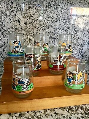 Peanuts Gang Welch's Jelly Jars Set of 7 Limited Edition