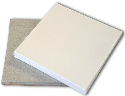Pebeo Art Painting Canvas Boards Pack of 3 - White Cotton or Linen - 10 x 10 cm