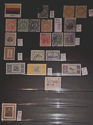 Mint & Used Bolivia 1887-1966. 20 Stamps.