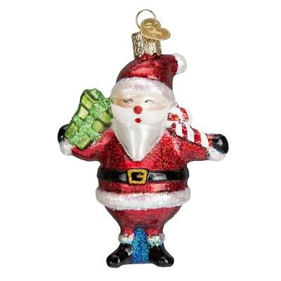"""Mid-Century Santa"" (40278)X Old World Christmas Glass Ornament w/ OWC Box"