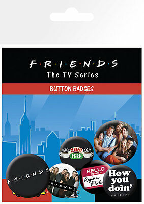 Friends Characters TV Sitcom Badge Pack Pin Badges