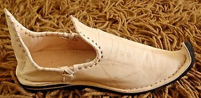 Moroccan Aladin Babouche Slippers 6/39  Natural Unisex