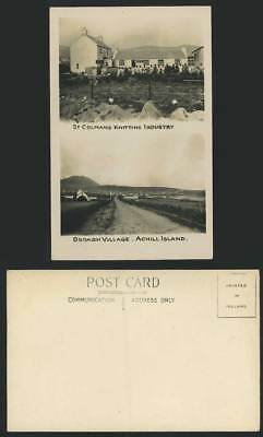 ACHILL ISLAND St Colmans Knitting Industry Old Postcard