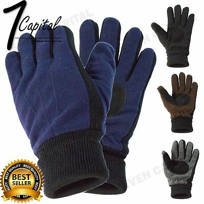 Mens Winter Warmer Knit Knitted Motorcycle Driving Ski Thermal Gloves One Size