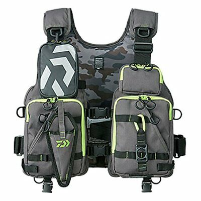 Daiwa DF-6206 Floating fishing game vest cloth life preserver Gray lime JP F/S