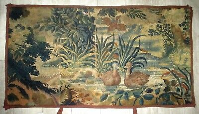 An 18th Century Verdure Tapestry with Ducks