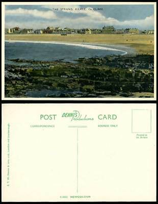 Ireland Co. CLARE Old Postcard THE STRAND, KILKEE, Beach Sands, Seaside Panorama
