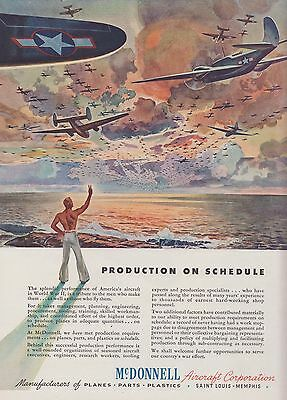 1943 McDonnell Aircraft Corporation Ad