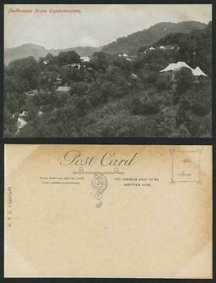 India Old Postcard Mountains DALHOUSIE from Cantonments