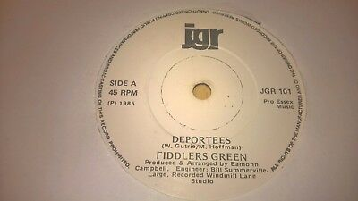 "FIDDLERS GREEN - Deportees - IRISH FOLK TRAD BALLAD 7"" IRELAND 1985"