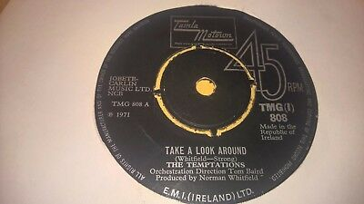 "THE TEMPTATIONS - Take A Look Around - IRISH PRESS 7"" MOTOWN SOUL IRELAND"