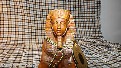 AL-ASEEL Egyptian Sphinx Statue w/Candle Holder - Resin Compound - Missing Cobra
