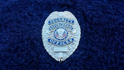 Silver Security Enforcement Officer Badge