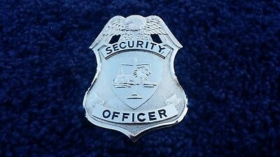 Silver Security Officer Badge