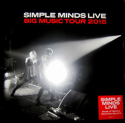 SIMPLE MINDS Big Music Tour 2015 - 2LP / Red Vinyl - RSD 2016 (Live)