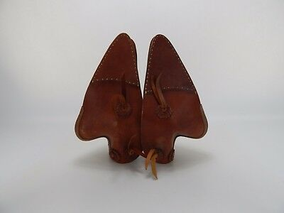 Vintage Leather Saddle Tapaderos