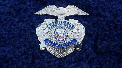 Silver Security Officer Hat Badge