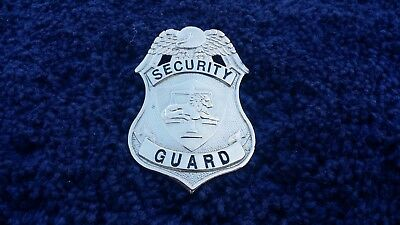 Silver Security Guard Badge
