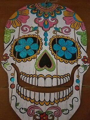 New Sugar Skull / Day of the Dead Hanging Wall Halloween Decoration