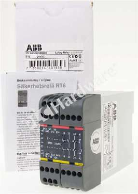 New ABB 2TLA010026R0000 Safety Relay RT6 24V DC Relay outputs 3NO/1NC