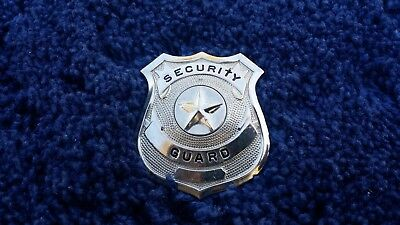 Silver Security Guard Hat Badge