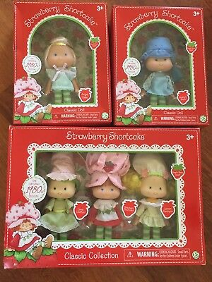 New Strawberry Shortcake Vintage Classic 1980s Design Lot--5 Dolls 🍓